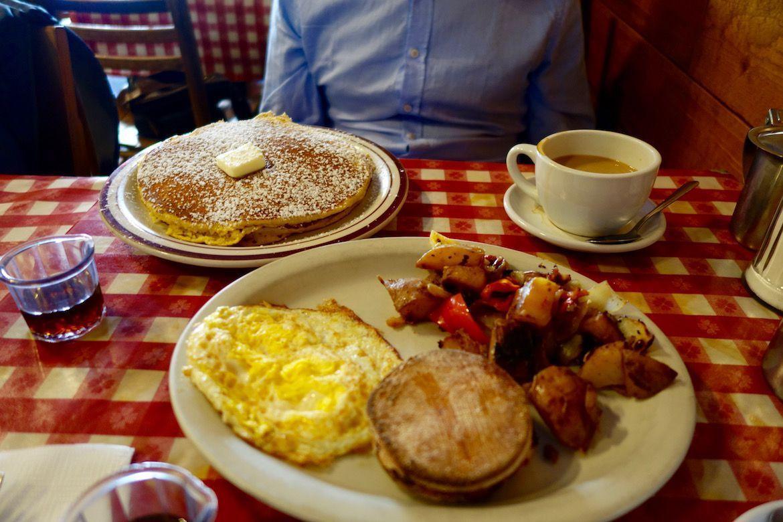 Un desayuno en EE.UU.