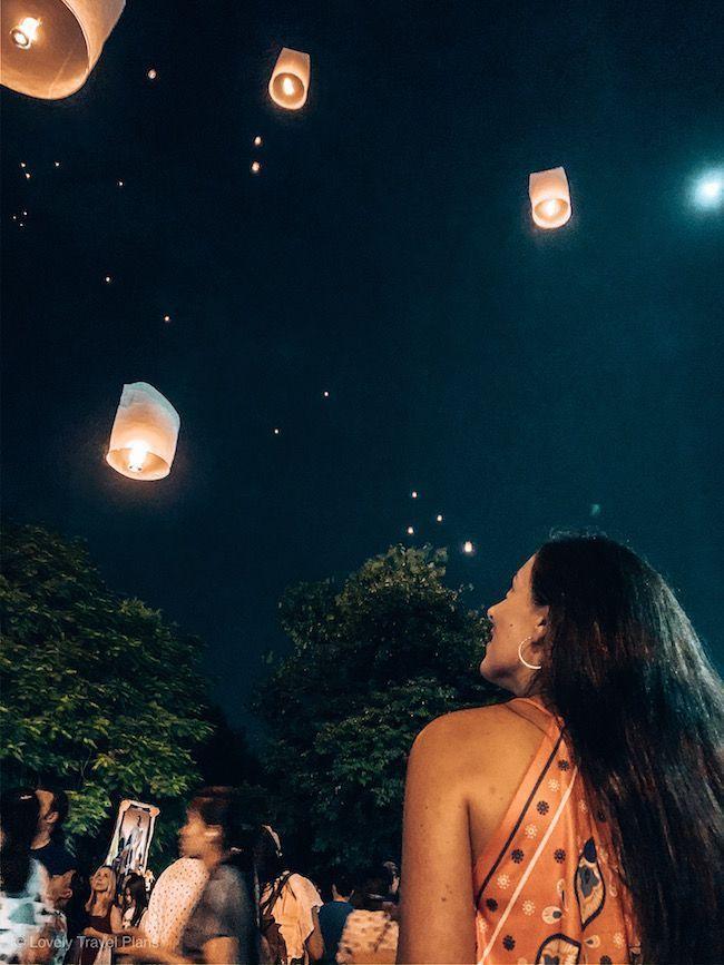 Festival linternas Chiang Mai