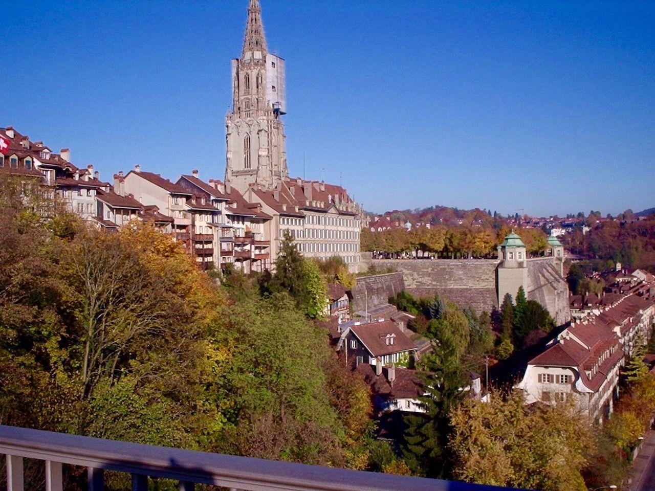 Vista de la Catedral de Berna