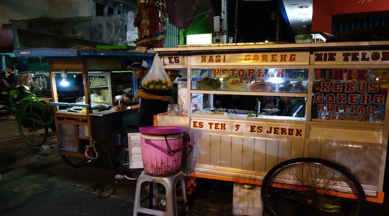 Comida callejera en Malioboro