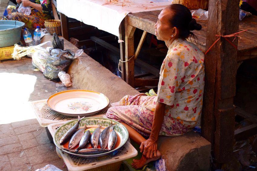 Mercado local de Ampenan (Lombok)