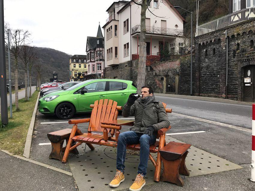 Nuestro coche de alquiler en los Castillos del Rin