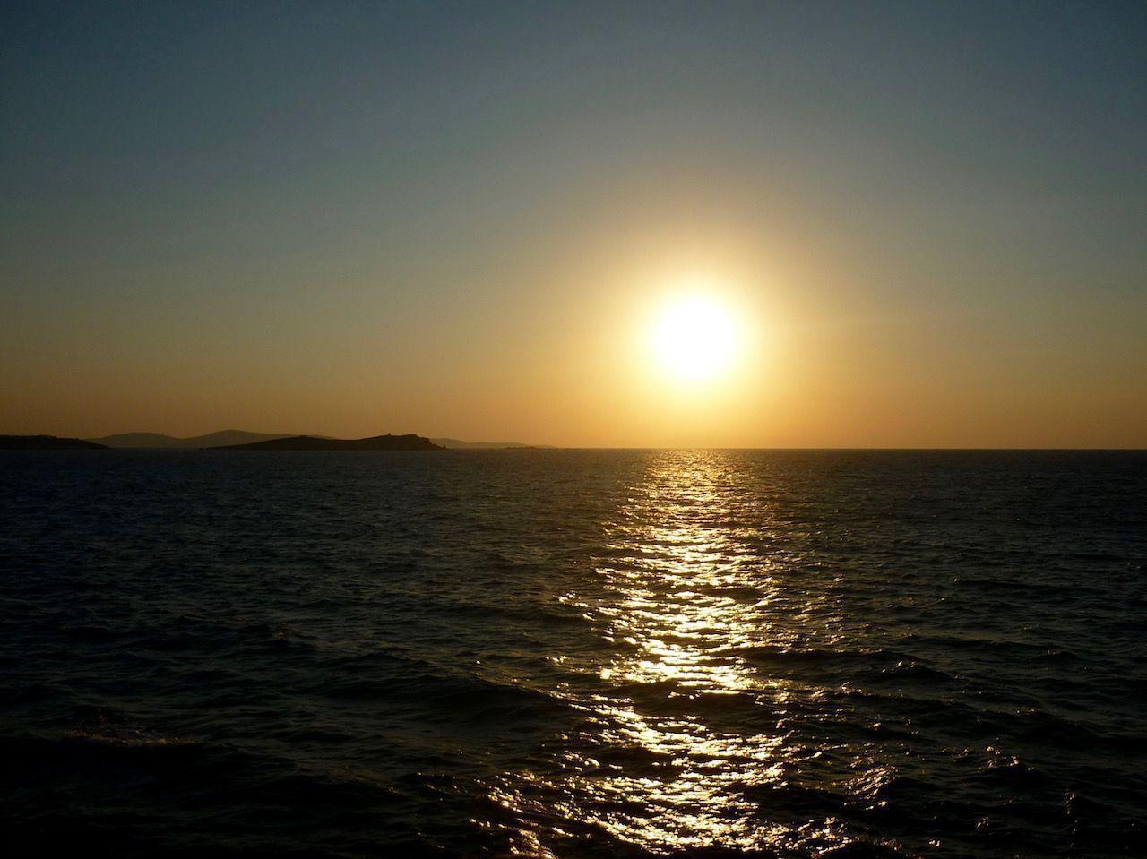 Puesta de sol en Mykonos